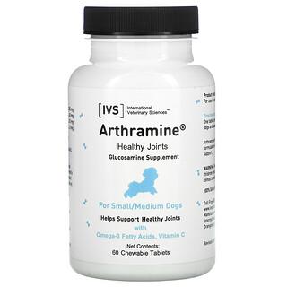 International Veterinary Sciences, Arthramine, Glucosamine Supplement, For Small/Medium Dogs, 60 Chewable Tablets