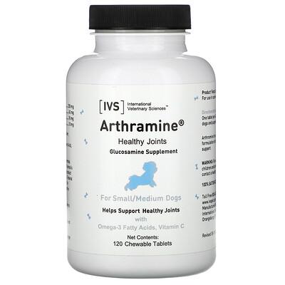 Купить International Veterinary Sciences Arthramine, Glucosamine Supplement, For Small/Medium Dogs, 120 Chewable Tablets