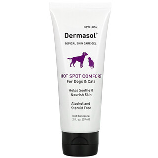 International Veterinary Sciences, Dermasol, Topical Skin Care Gel, For Dogs & Cats, 2 fl oz ( 59 ml)