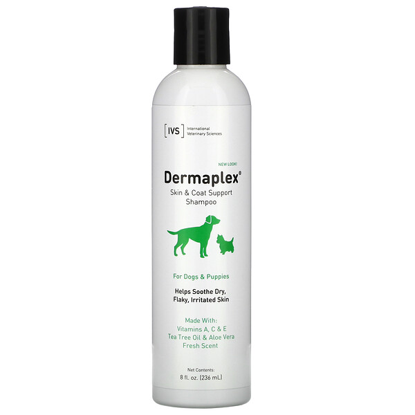 Dermaplex, Skin & Coat Support Shampoo, For Dogs & Puppies, Fresh Scent, 8 fl oz ( 236 ml)