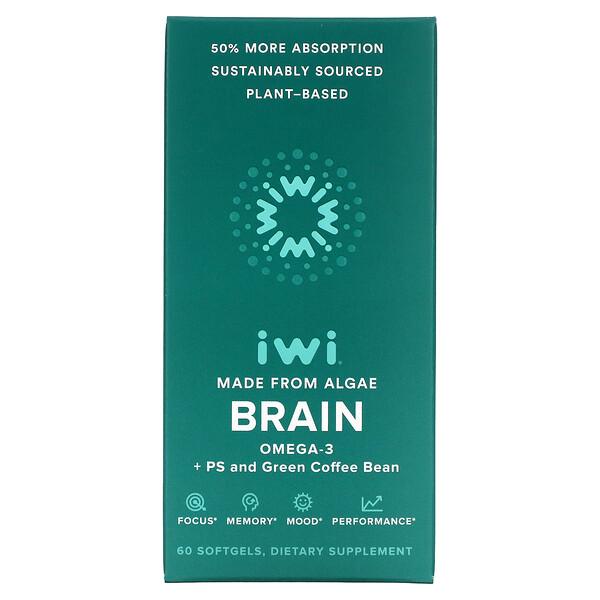 Brain, Omega-3 + PS And Green Coffee Bean, 60 Softgels