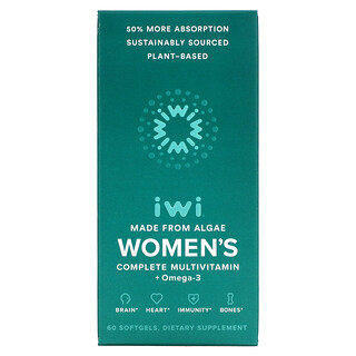 iWi, Women's Complete Multivitamin + Omega-3, 60 Softgels