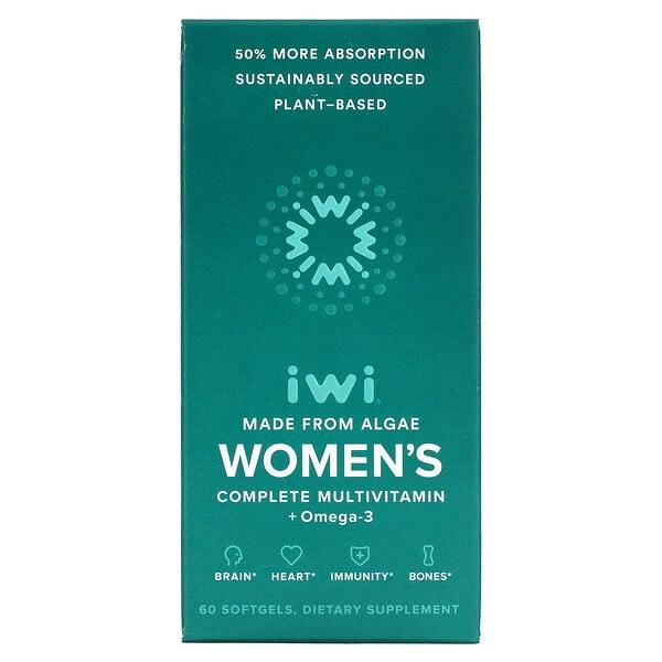女性完全多维生素 + 欧米伽-3,60 粒软凝胶
