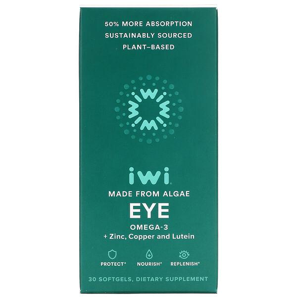 Eye, Omega-3 + Zinc, Copper and Lutein, 30 Softgels