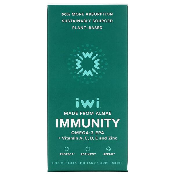 Immunity, Omega-3 EPA + Vitamin A, C, D, E And Zinc, 60 Softgels