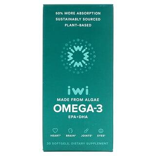 iWi, 歐米伽-3 EPA + DHA,30 粒軟凝膠