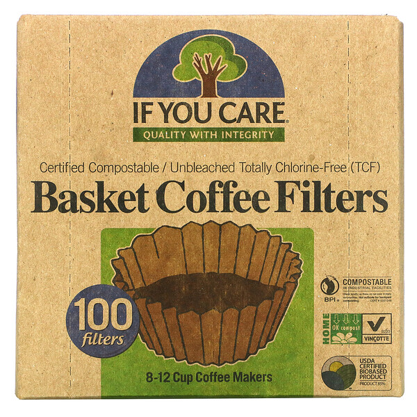 Basket Coffee Filters, 100 Filters
