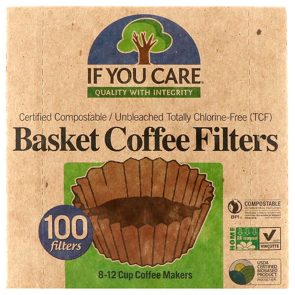 If You Care, Basket Coffee Filters, 100 Filters (Discontinued Item)