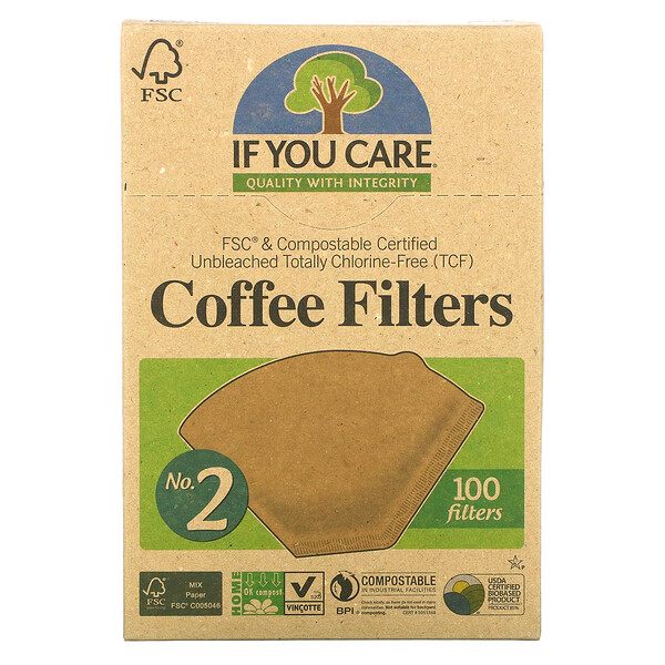 If You Care, Filtros de café, tamaño Nro. 2, 100 filtros