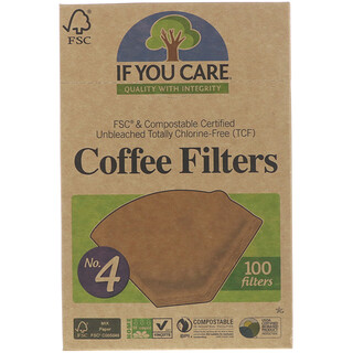 If You Care, Coffee Filters, No. 4 , 100 Filters