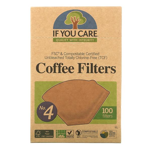 Filtros de Café, Tamaño No. 4, 100 Filtros