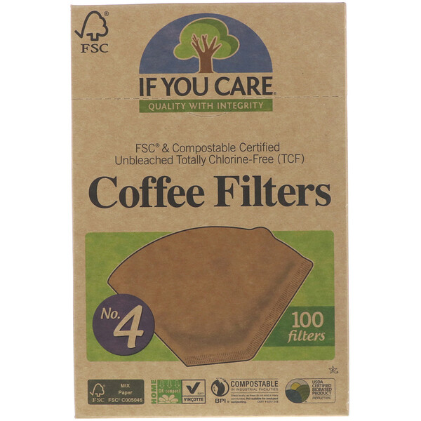 If You Care, Coffee Filters, No. 4 , 100 Filters (Discontinued Item)