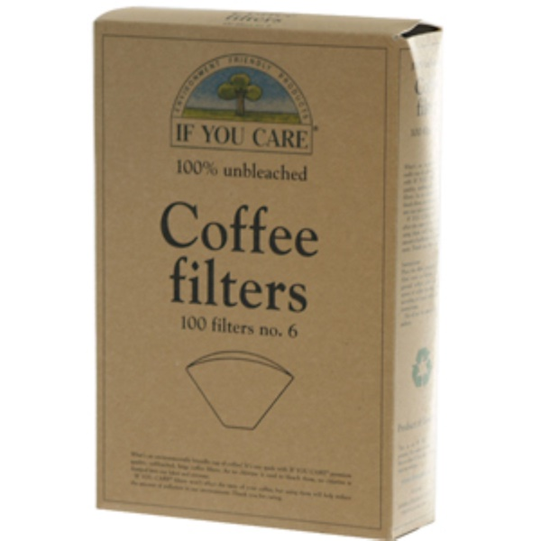 If You Care, Coffee Filters, No. 6, Unbleached, 100 Filters (Discontinued Item)