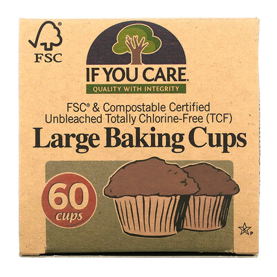 If You Care Large Baking Cups, 60 Cups