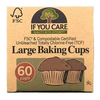 If You Care, 大きいサイズのベーキングカップ、60カップ、各2 1/2 in (6.35 cm)