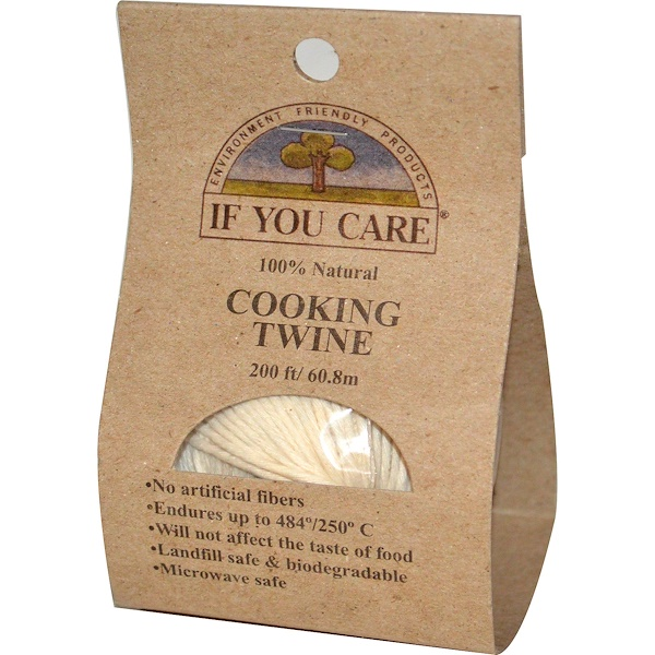 If You Care, 100% Natural, Cooking Twine, 200 ft (60.8 m) (Discontinued Item)