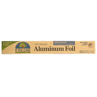 If You Care, 100% Recycled Aluminum Foil, 50 sq ft (52.26 ft x 11.5 in)
