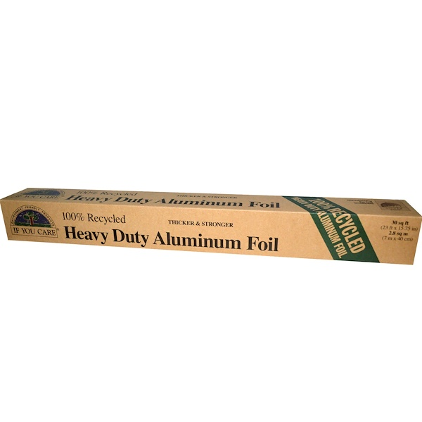 If You Care, 100% Recycled Heavy Duty Aluminum Foil, 30 sq ft (23 ft x 15.75 in) (Discontinued Item)