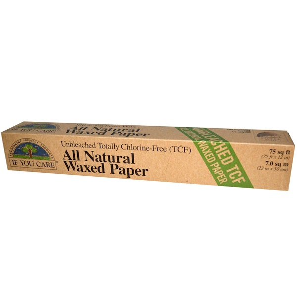 If You Care, All Natural Waxed Paper, 75 sq ft (75 ft x 12 in) (Discontinued Item)