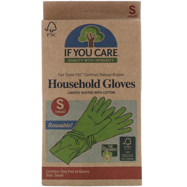 If You Care, Household Gloves,  Small, 1 Pair (Discontinued Item)