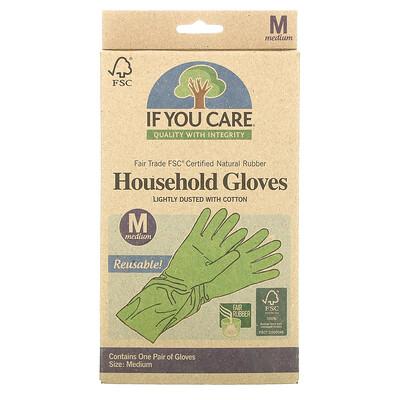 Купить If You Care Хозяйственные перчатки, средний размер, 1 пара