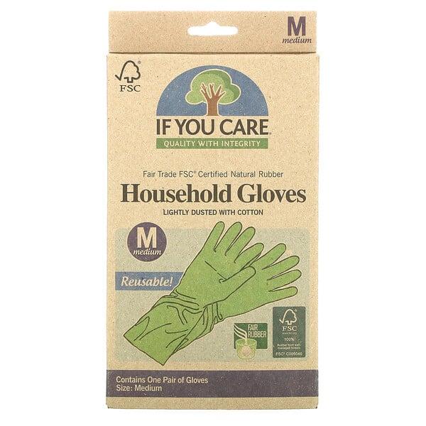 Household Gloves, Reusable, Medium, 1 Pair
