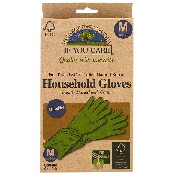 If You Care, Guantes del hogar, Medium, 1 par (Discontinued Item)