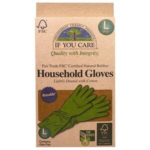 If You Care, Хозяйственные перчатки, многоразовые, большой размер, 1 пара