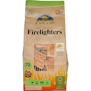 If You Care, Firelighters, 72 Pieces, 18.16 oz (515 g)