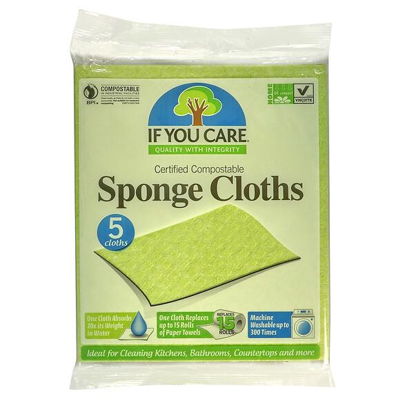 If You Care, Compostable Sponge Cloths, 5 Clothes