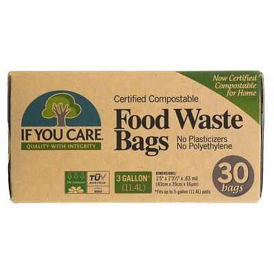Купить If You Care Food Waste Bags, 3 Gallon, 30 Bags