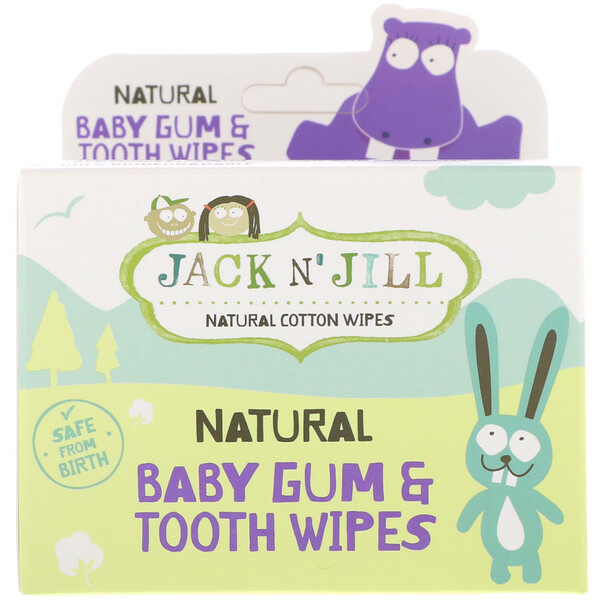 Natural Baby Gum & Tooth Wipes, 25 Individually Wrapped Wipes