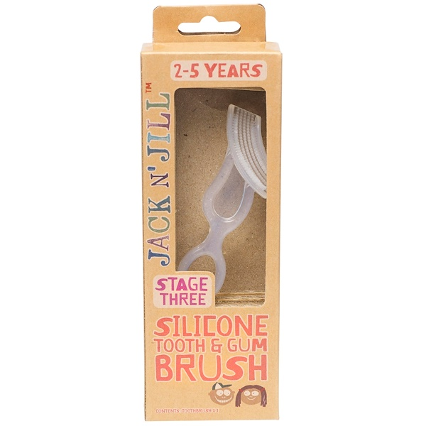 Jack n' Jill, Silicone Tooth & Gum Brush, Stage 3, 1 Brush (Discontinued Item)