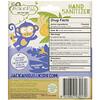 Jack n' Jill, Hand Sanitizer, Alcohol Free, Fragrance Free, Monkey, 2 Pack, 0.98 fl oz (29 ml) Each and 1 Case