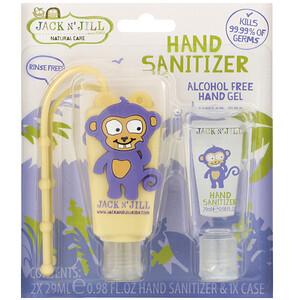 джек энд Джил, Hand Sanitizer, Monkey, 2 Pack, 0.98 fl oz (29 ml) Each and 1 Case отзывы покупателей