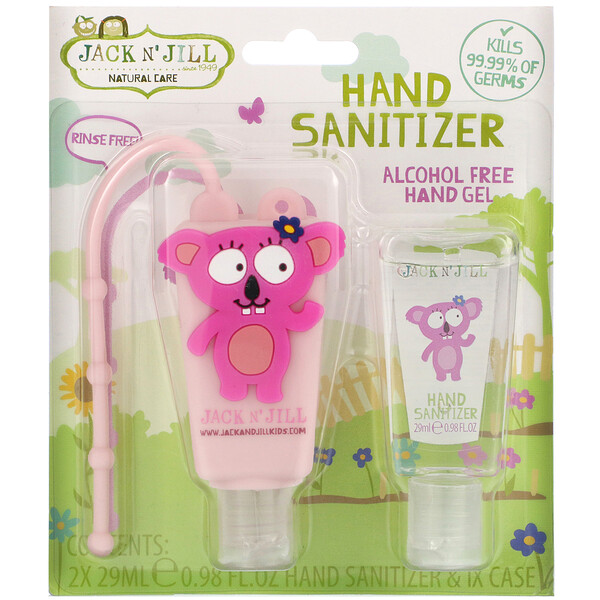Hand Sanitizer, Alcohol Free Fragrance Free, Koala, 2 Pack, 0.98 fl oz (29 ml) Each and 1 Case