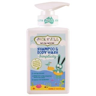 Jack n' Jill, Natural Bathtime, Shampoo & Body Wash, Simplicity, 10.14 fl oz (300 ml)