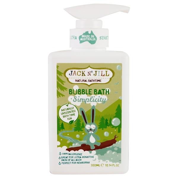 Jack n' Jill, Natural Bathtime, Bubble Bath, Simplicity, 10.14 fl. oz (300 ml) (Discontinued Item)