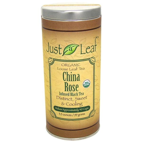 Just a Leaf Organic Tea, China Rose Infused Black Tea, 3.5 oz (99 g) (Discontinued Item)