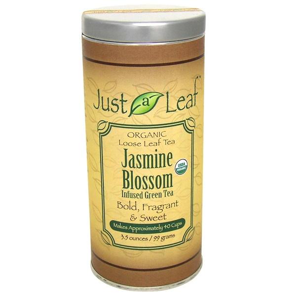 Just a Leaf Organic Tea, Jasmine Blossom Infused Green Tea, 3.5 oz (99 g) (Discontinued Item)