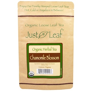 Just a Leaf Organic Tea, Loose Leaf, Herbal Tea, Chamomile Blossom, 2 oz (56 g)