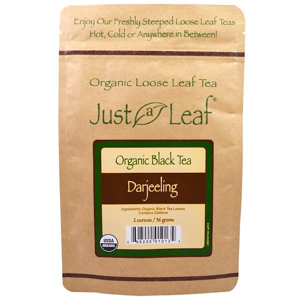 Just a Leaf Organic Tea, Черный чай, Дарджилинг, 2 унции (56 г) (Discontinued Item)