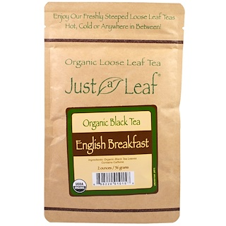 Just a Leaf Organic Tea, Loose Leaf, Black Tea, English Breakfast, 2 oz (56 g)
