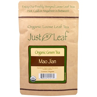 Just a Leaf Organic Tea, Loose Leaf, Green Tea, Mao Jian, 2 oz (56 g)
