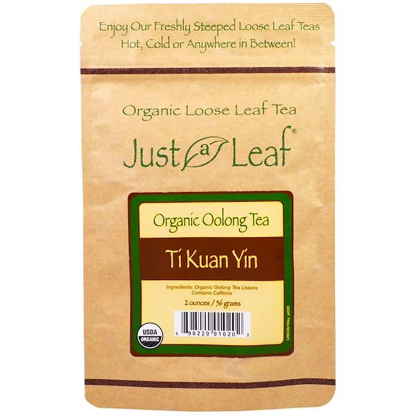 Just a Leaf Organic Tea, Loose Leaf, Oolong Tea, Ti Kuan Yin, 2 oz (56 g) (Discontinued Item)