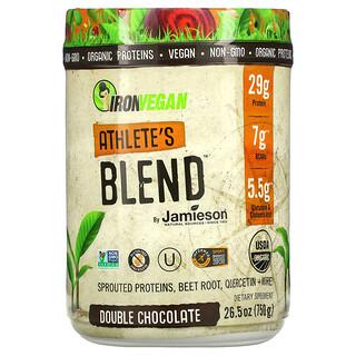 Jamieson Natural Sources, IronVegan, Athlete's Blend, Double Chocolate, 26.5 oz (750 g)