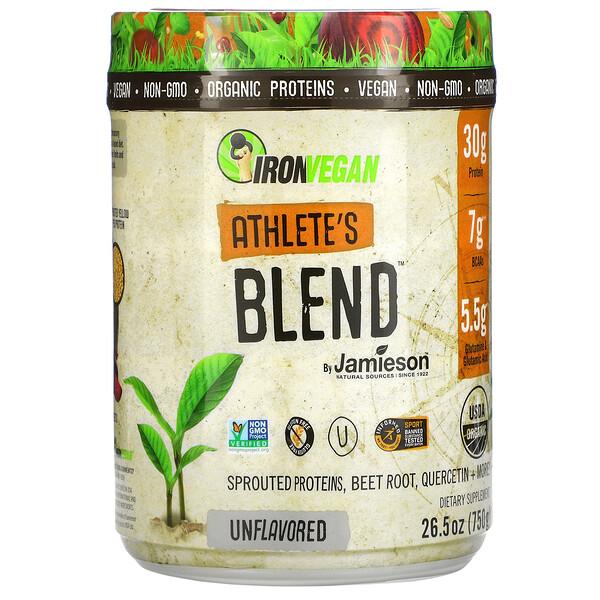 IronVegan, Athlete's Blend, Unflavored, 26.5 oz (750 g)
