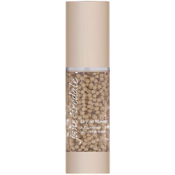 Jane Iredale, Liquid Minerals, A Foundation, Warm Silk, 1.01 fl oz (30 ml) (Discontinued Item)