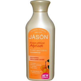 Jason Natural, Pure Natural Shampoo, Super Shine Apricot, 16 fl oz (473 ml)