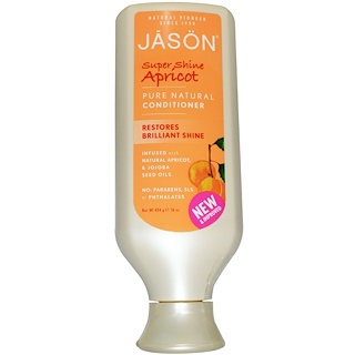Jason Natural, Pure Natural Conditioner, Super Shine Apricot, 16 oz (454 g)